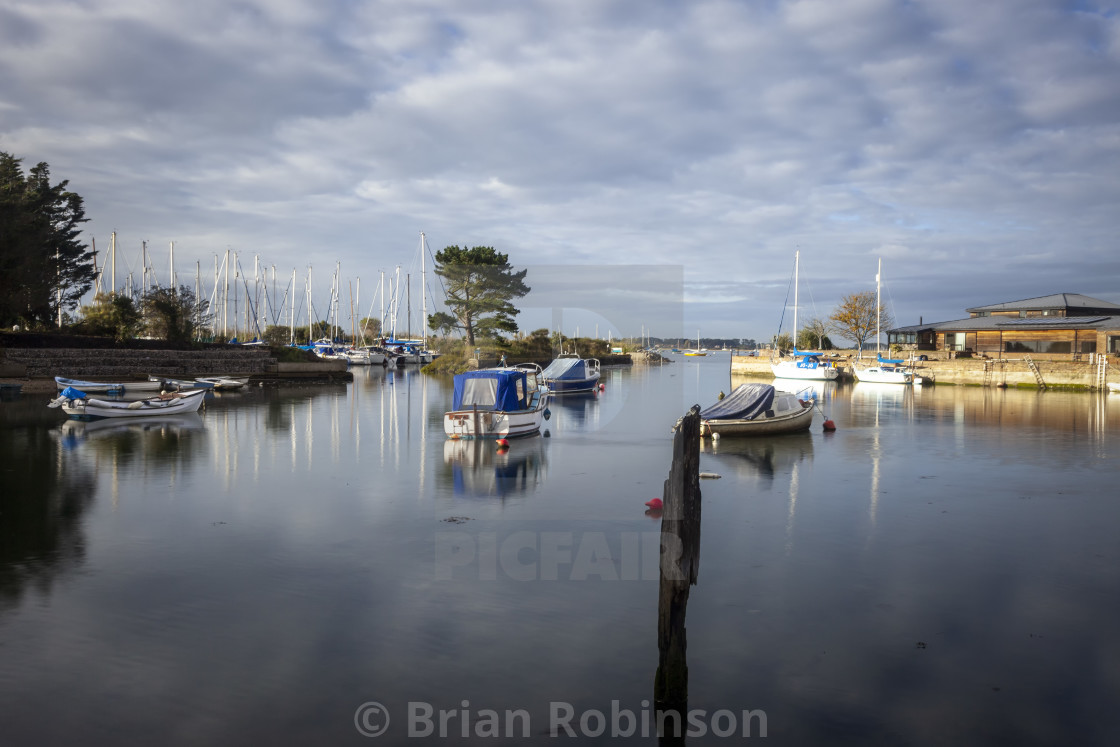 """""""Emsworth Yacht Harbour"""" stock image"""
