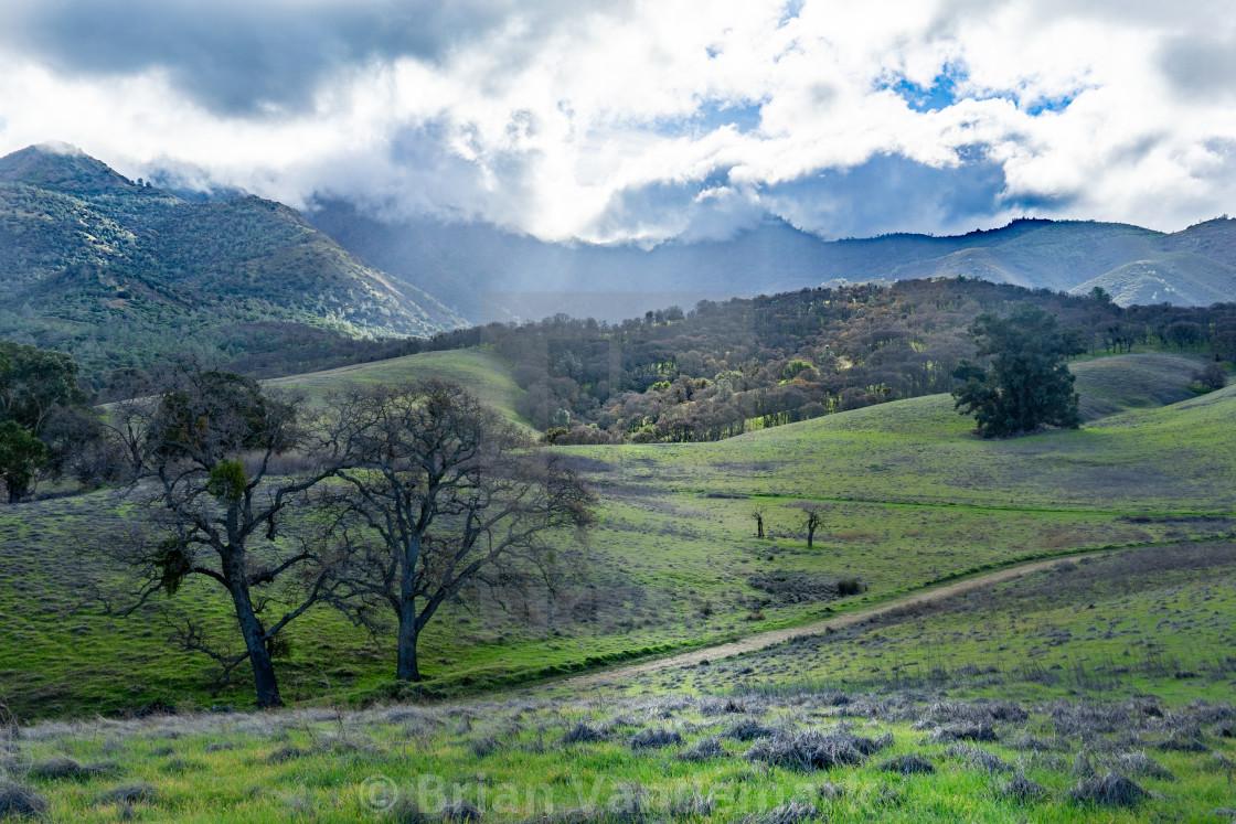 """North slopes of Mount Diablo"" stock image"