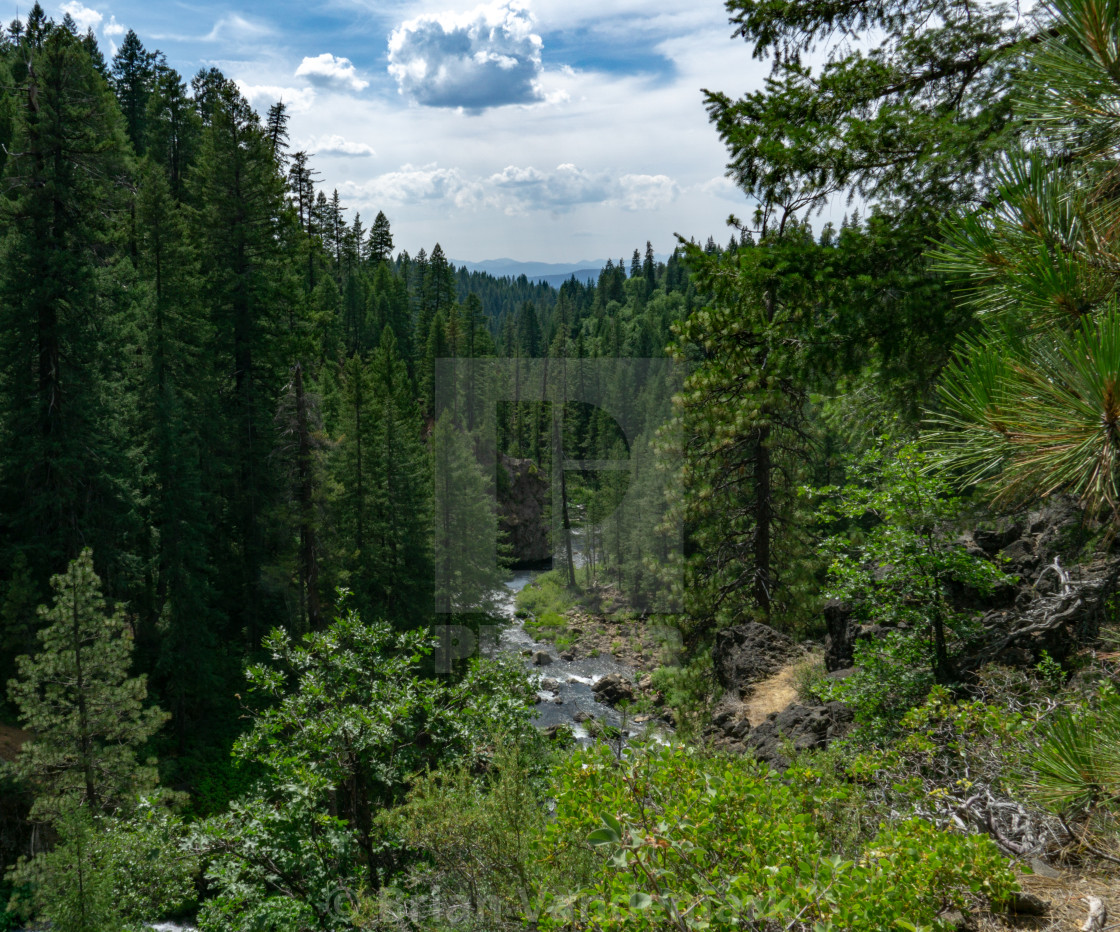 """Hat Creek View from Ridge"" stock image"