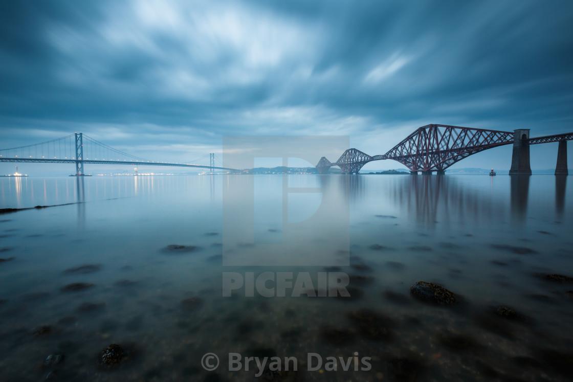 """Forth bridges in Edinburgh, Scotland"" stock image"