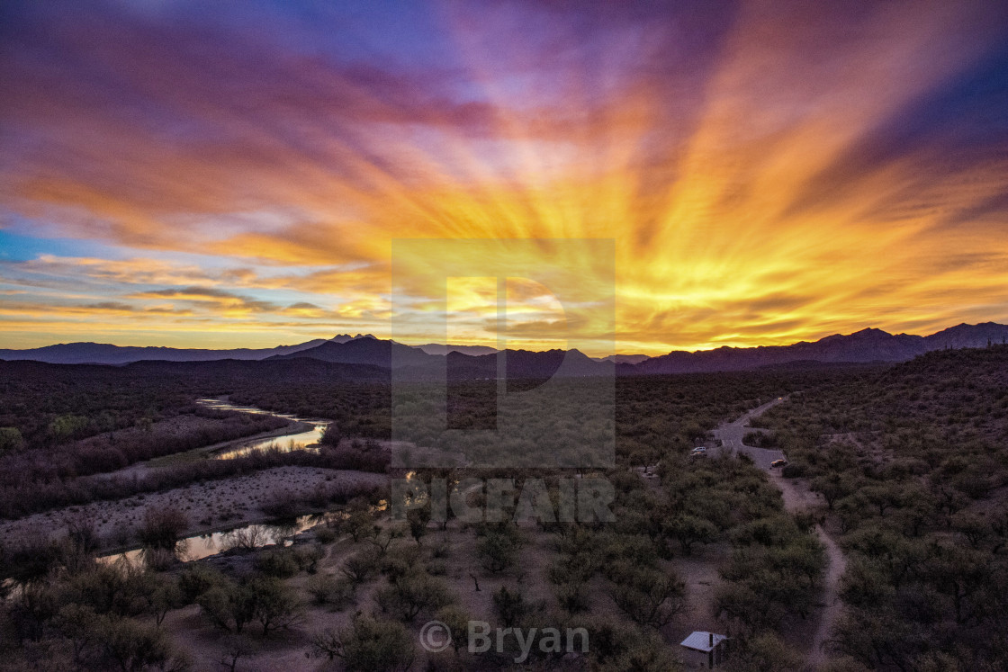 """Salt river Sunrise"" stock image"