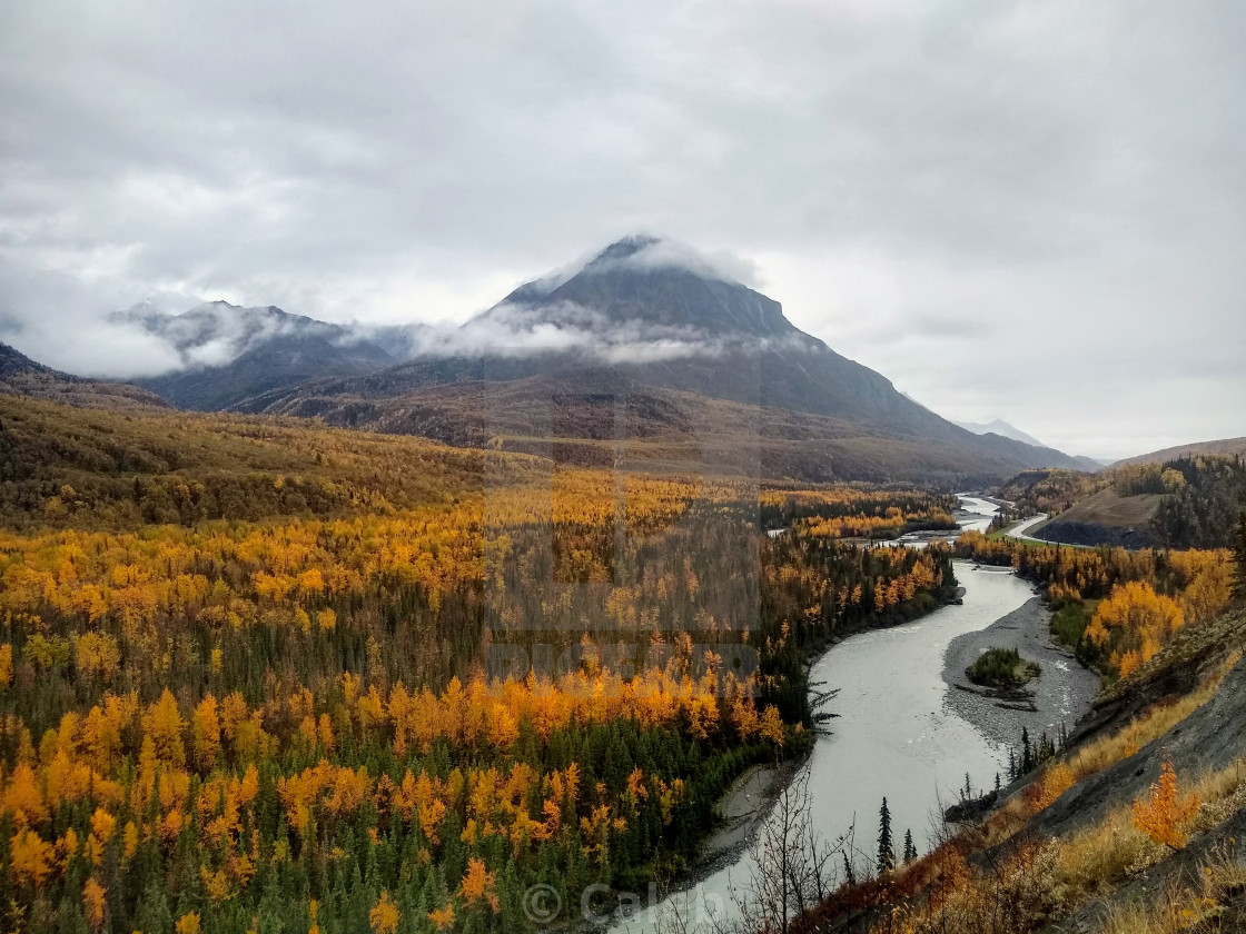 """""""Alaskan Autumn"""" stock image"""