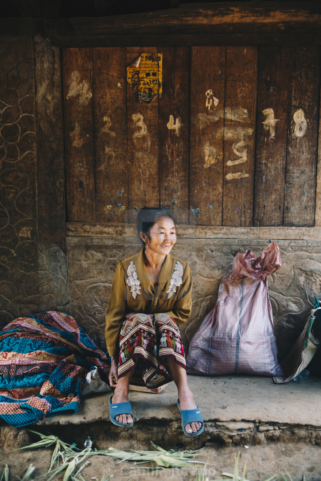 """Woman in Laos"" stock image"