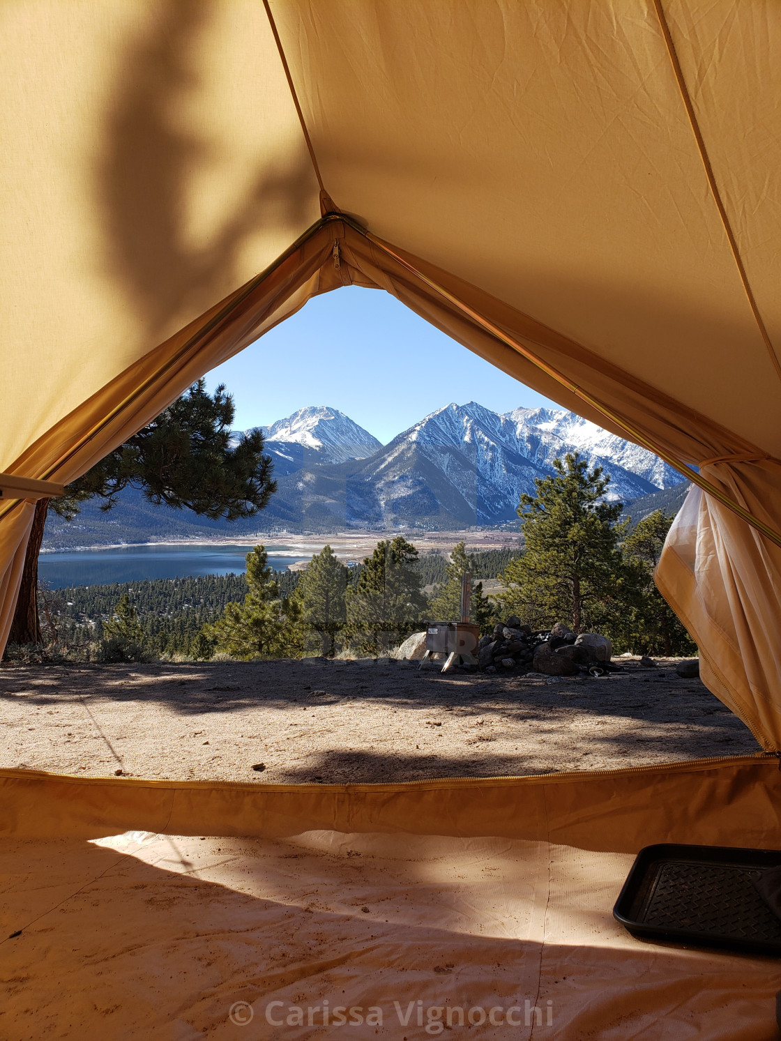 """Tent View"" stock image"