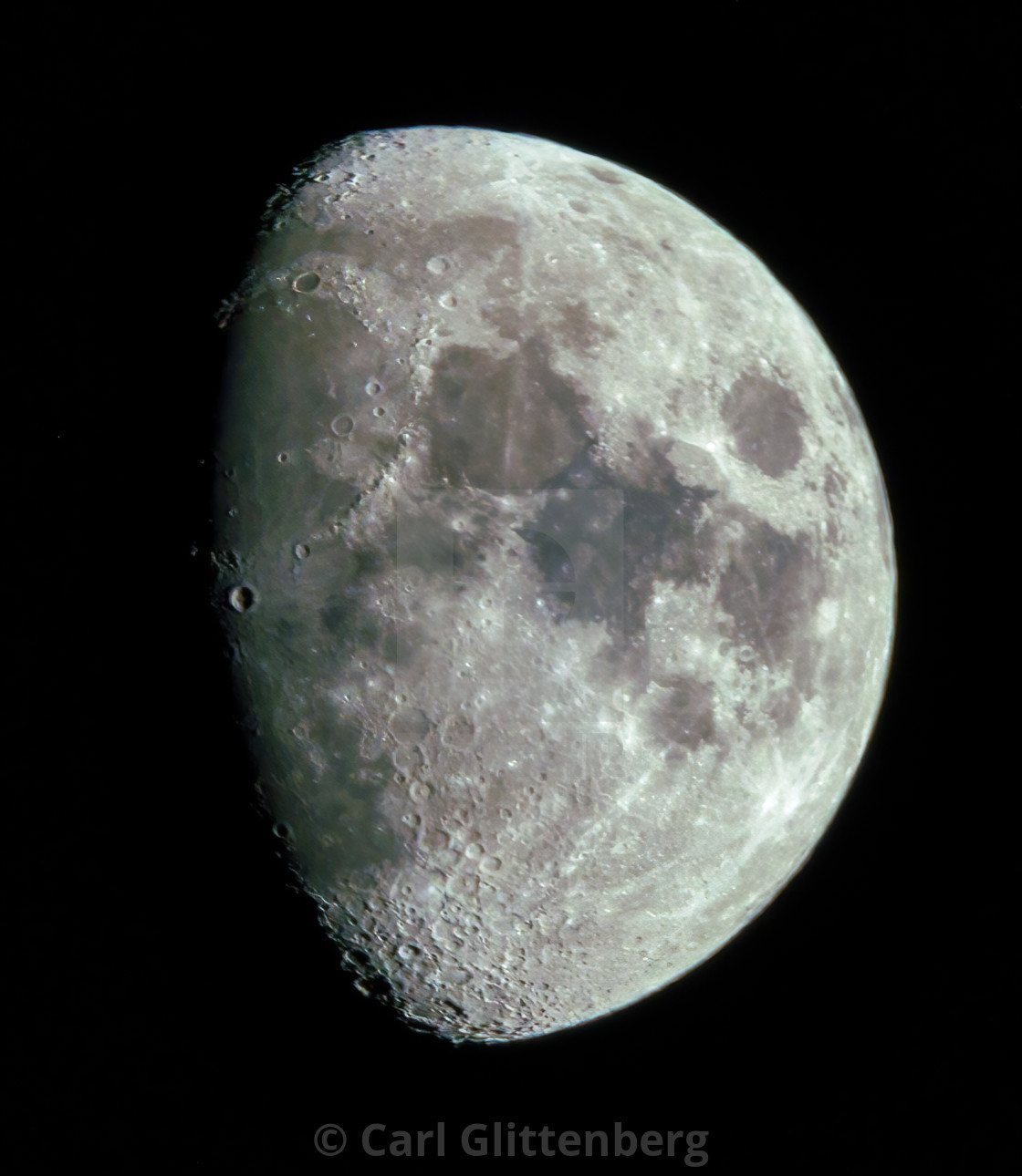 """Close-up of Waxing Moon"" stock image"