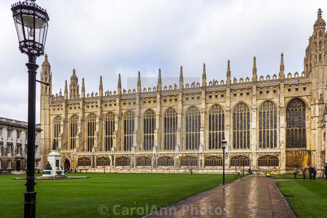 """Kings College, Cambridge"" stock image"