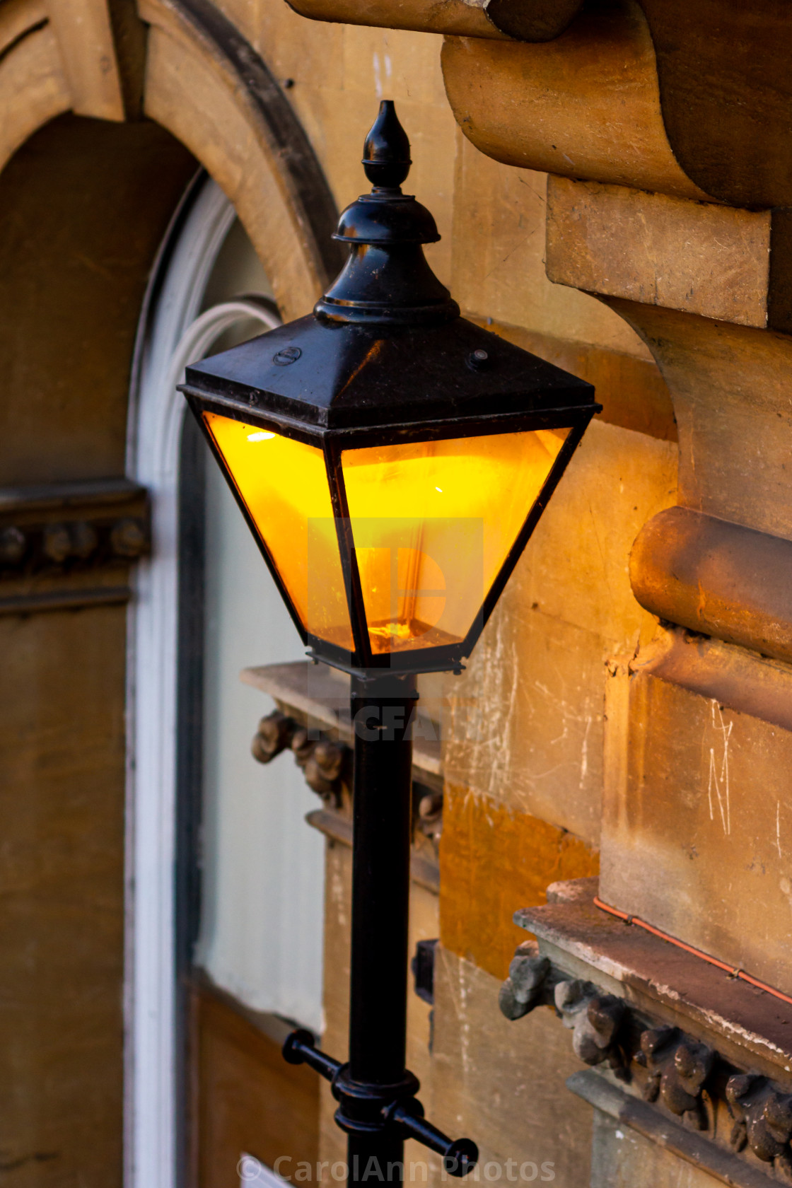"""""""Lamp outside Towcester Town Hall"""" stock image"""