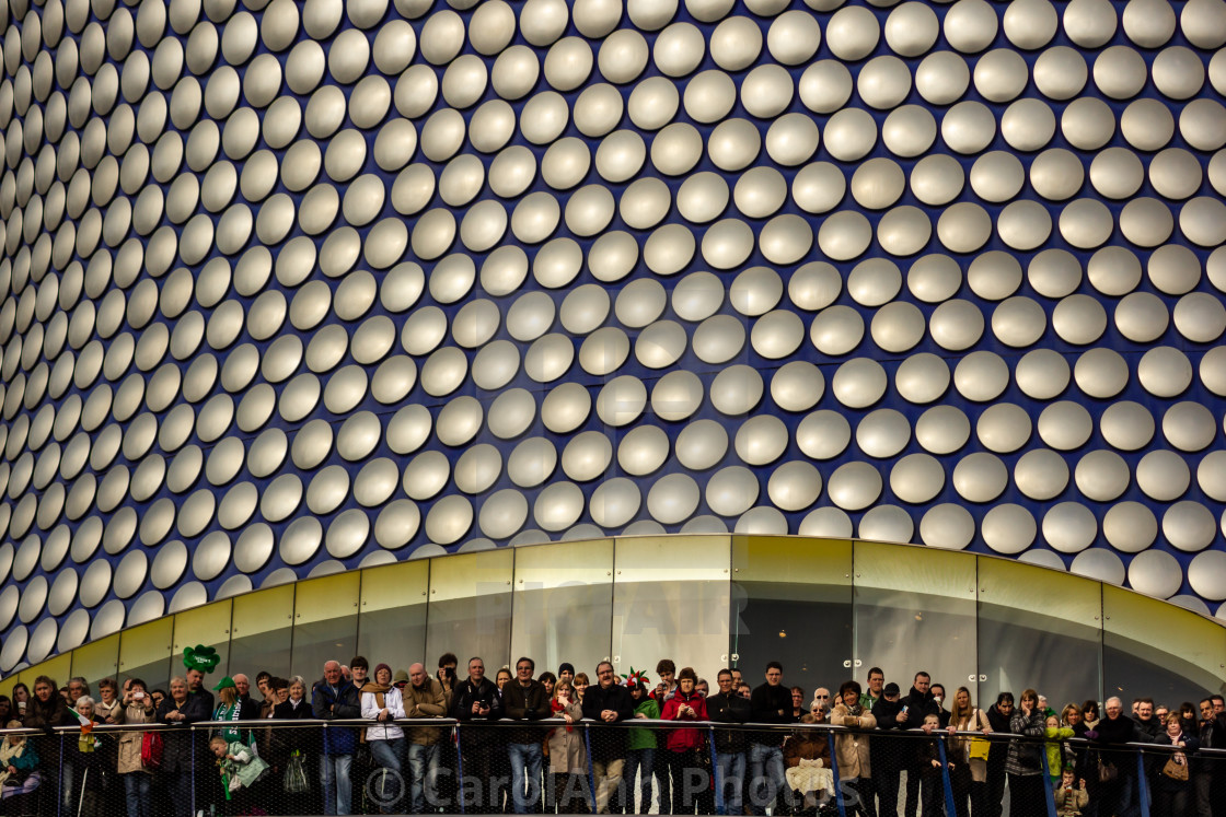 """""""Selfridges Building and crowd"""" stock image"""