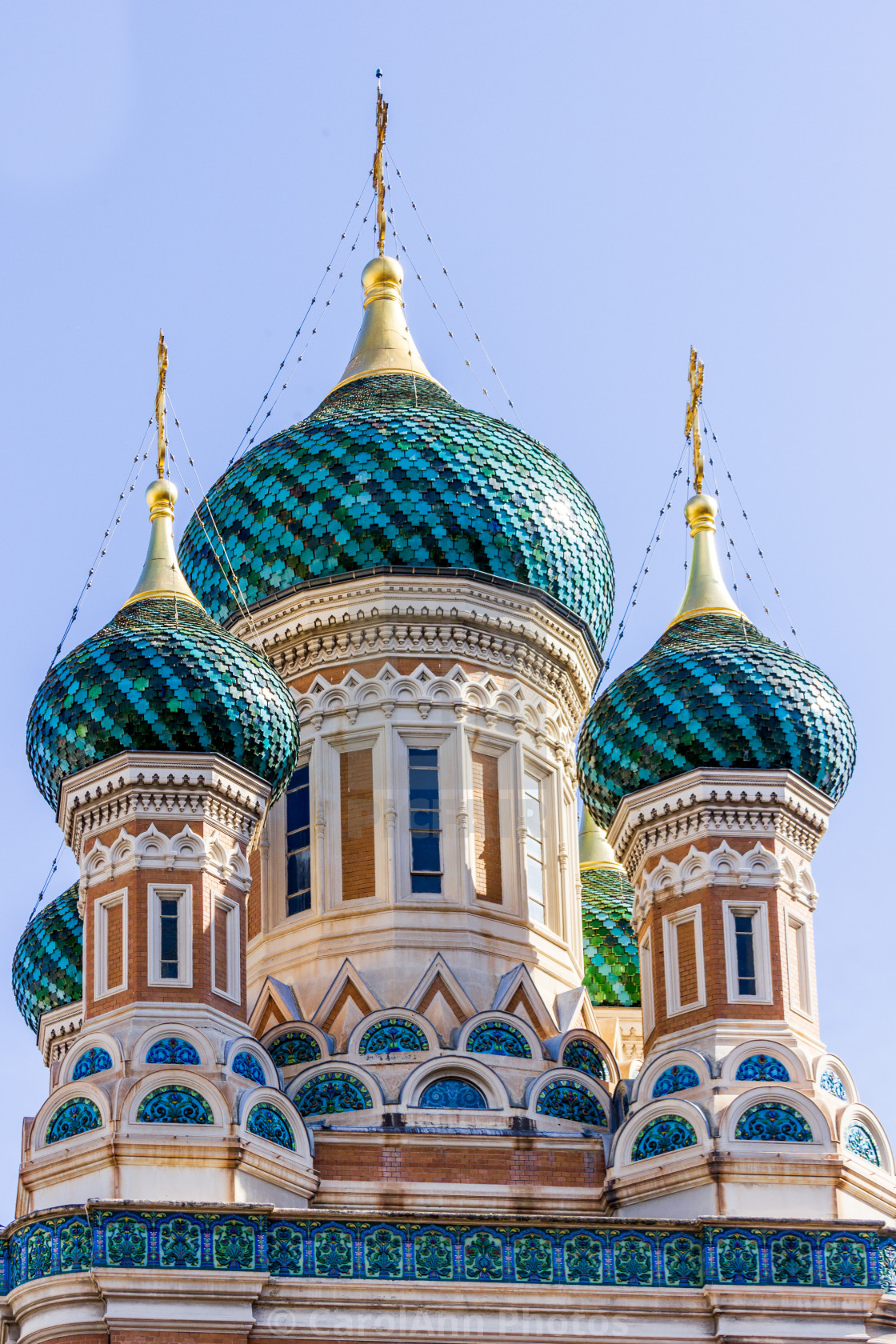 """""""Russian Orthodox Cathedral, Nice"""" stock image"""
