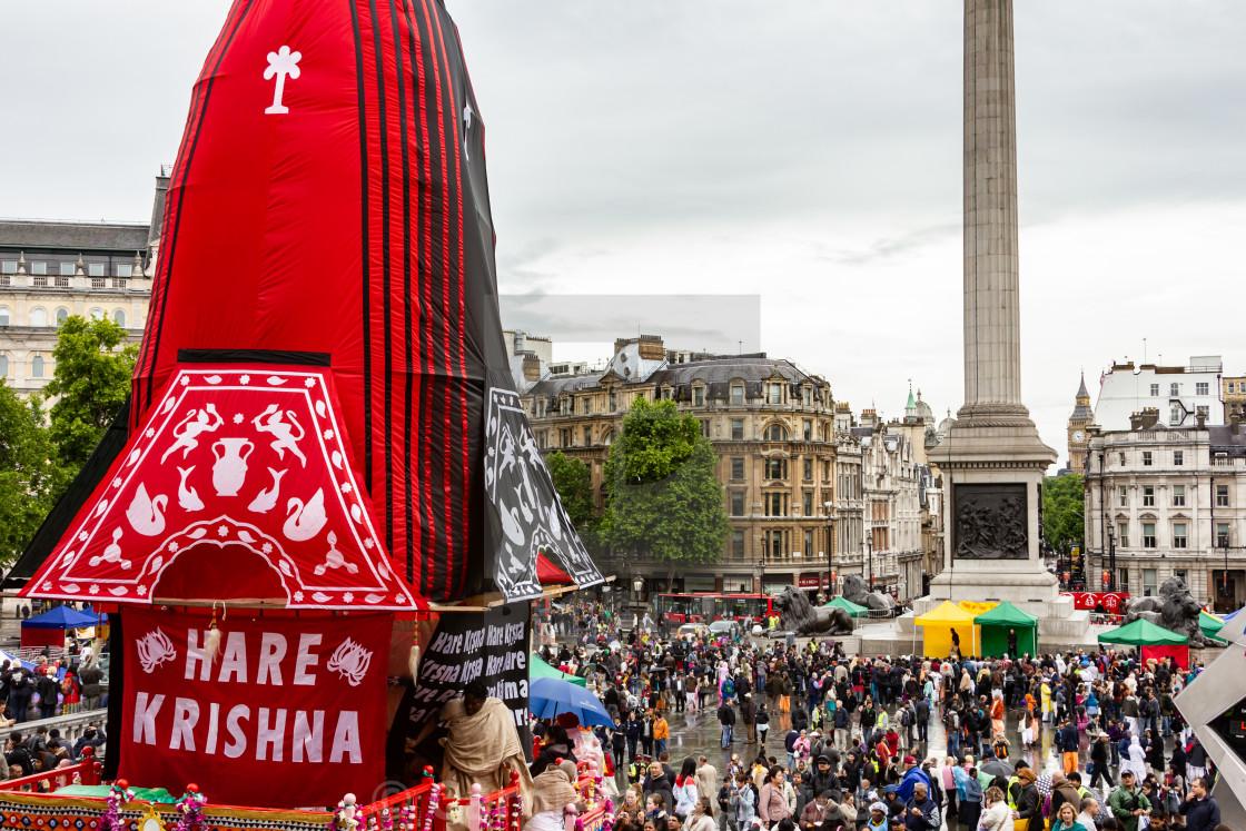 """Ratha Yastra Festival, Trafalgar Square, London"" stock image"