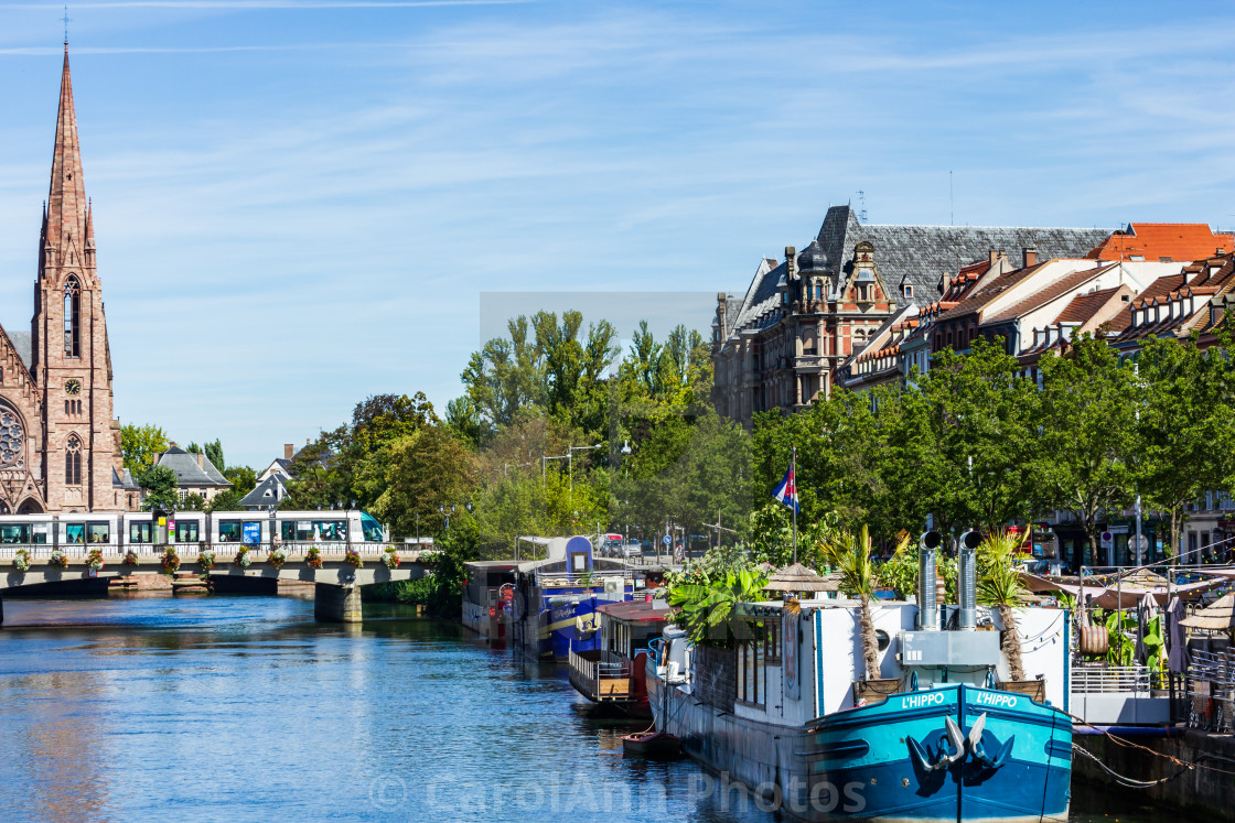 """""""The canal in Strasbourg"""" stock image"""