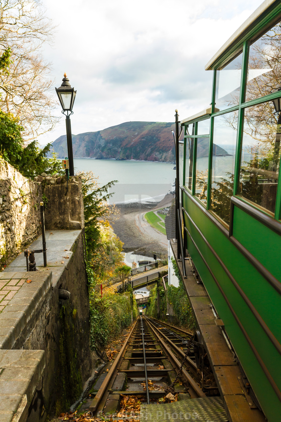 """Cliff Railway, Lynton"" stock image"