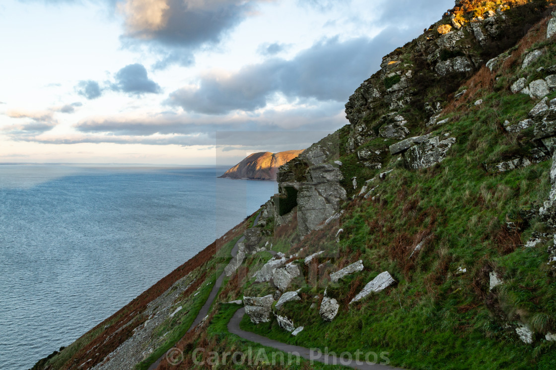 """The South West Coastal path"" stock image"