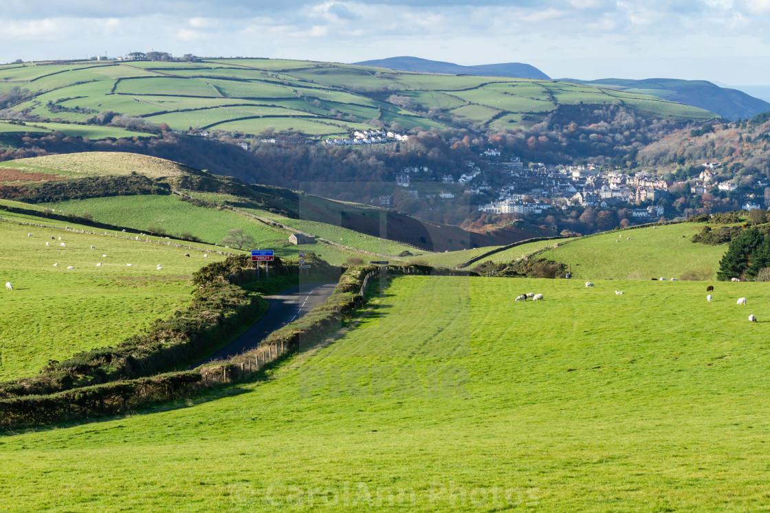 """Countisbury Hill, North Devon"" stock image"