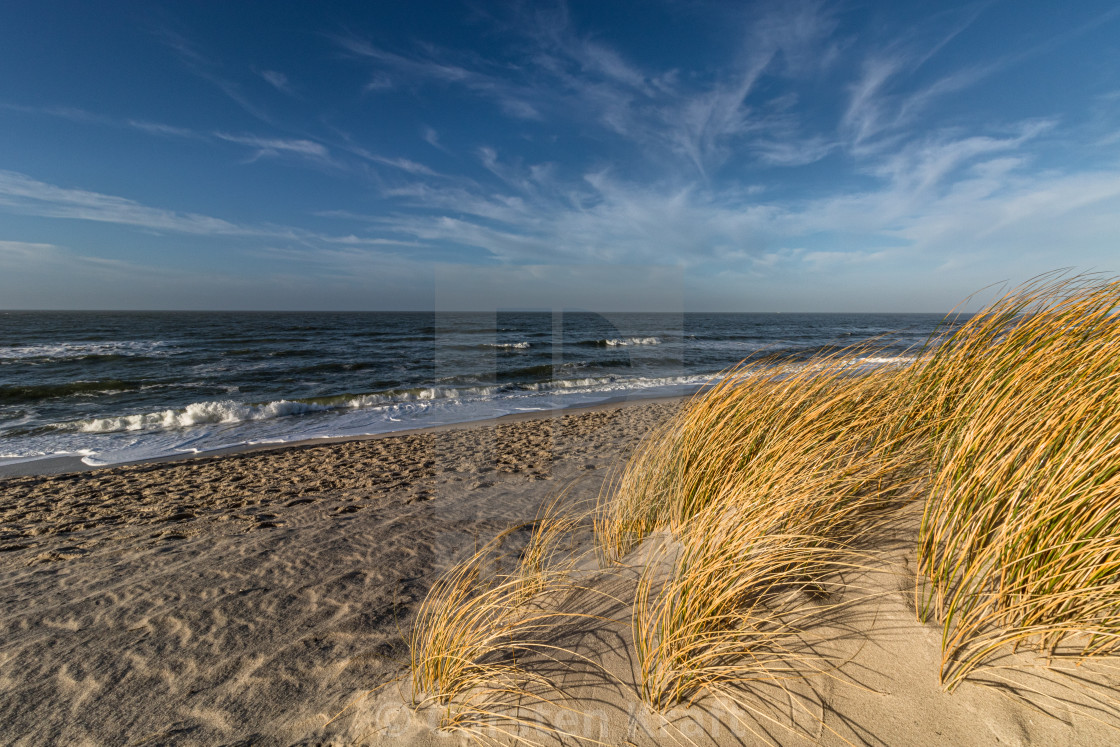 """at the beach on Is. Sylt"" stock image"