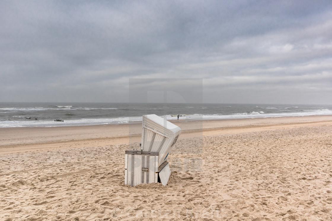 """Beach chair at the beach"" stock image"