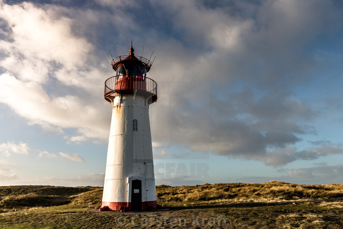 """Northern Lighthouse Sylt"" stock image"