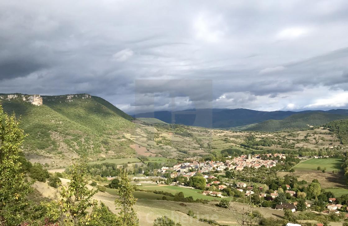"""Nant, vallée de la Dourbie"" stock image"