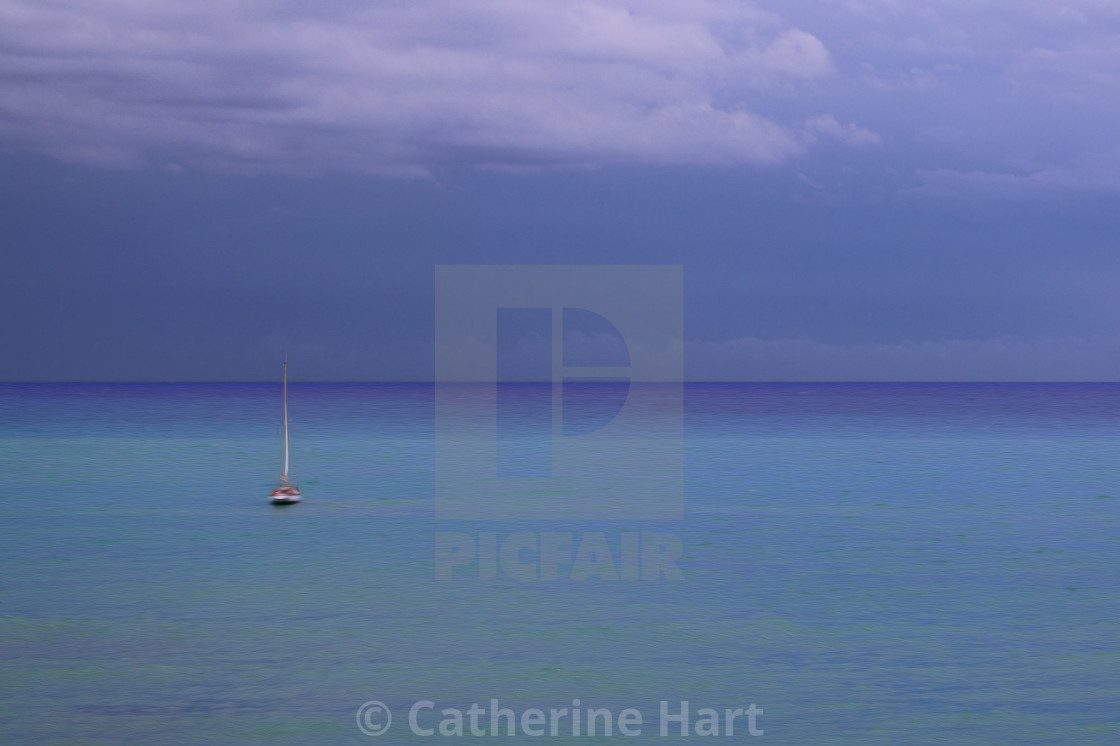 """""""A view of Sitges"""" stock image"""