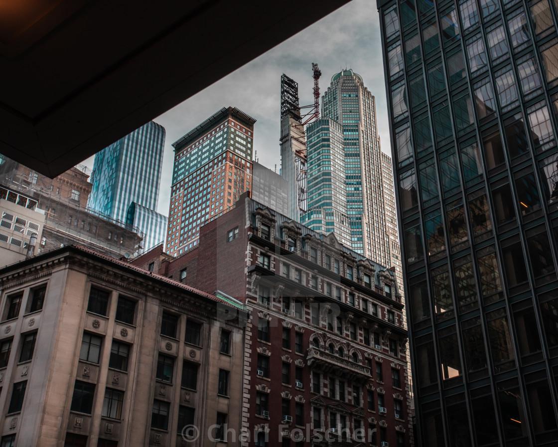 """""""Framing Manhattan"""" stock image"""