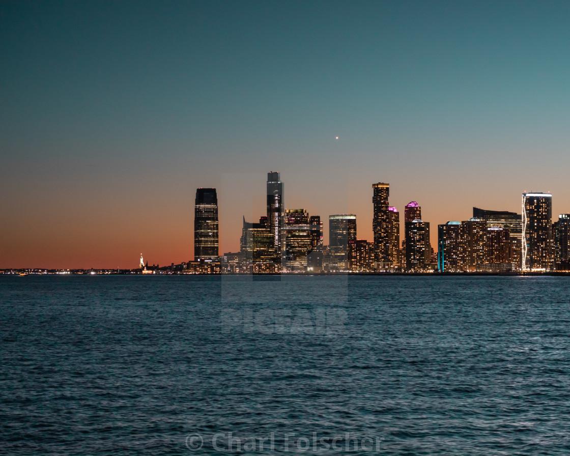 """""""Jersey City Skyline"""" stock image"""