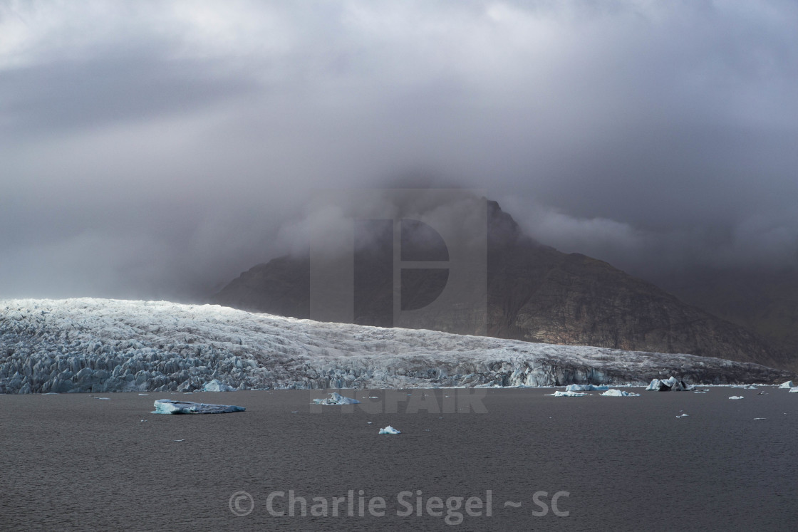 """Vatnajokull Glacier Lagoon Iceland color version"" stock image"