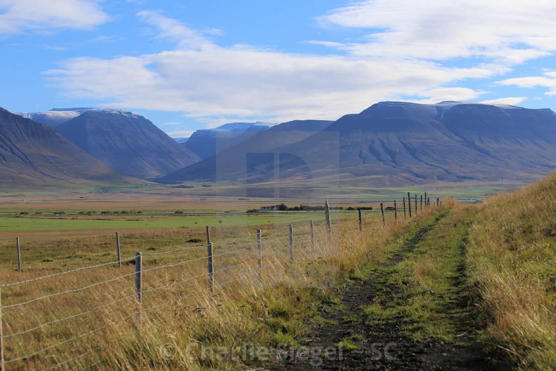 """Trail through Iceland"" stock image"