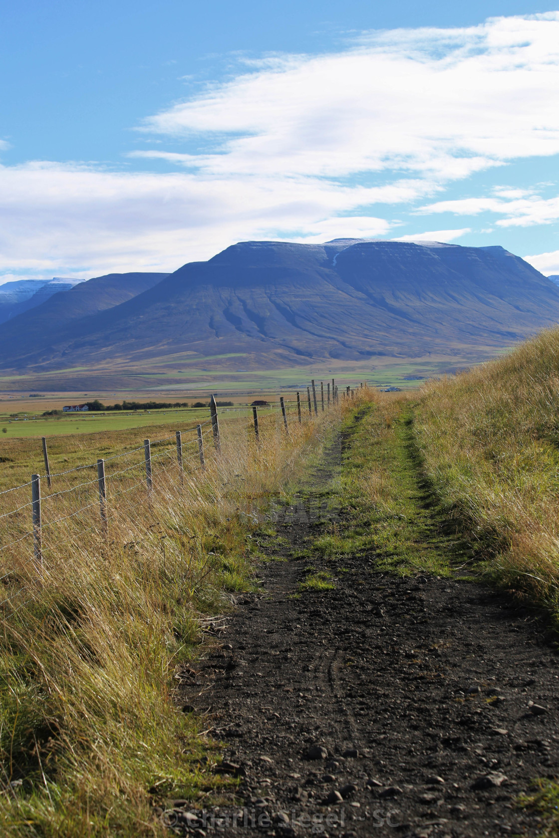 """Trail through Skagafjordur Iceland"" stock image"