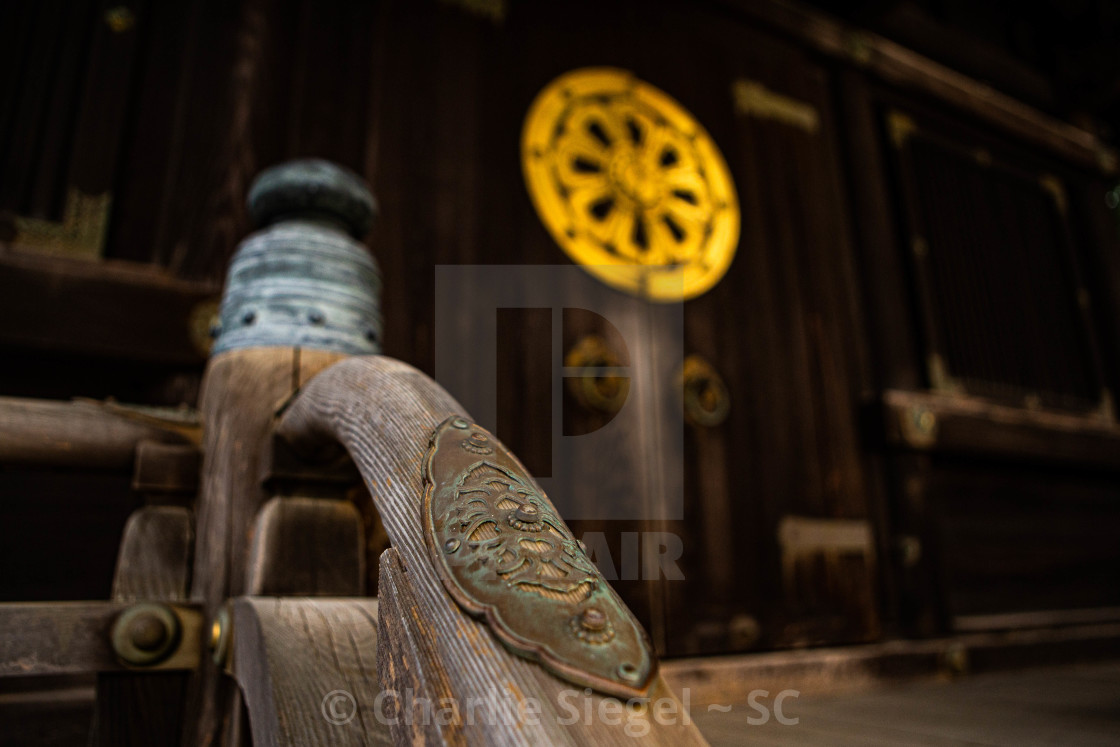 """Hearts on a Handrail in Japan"" stock image"