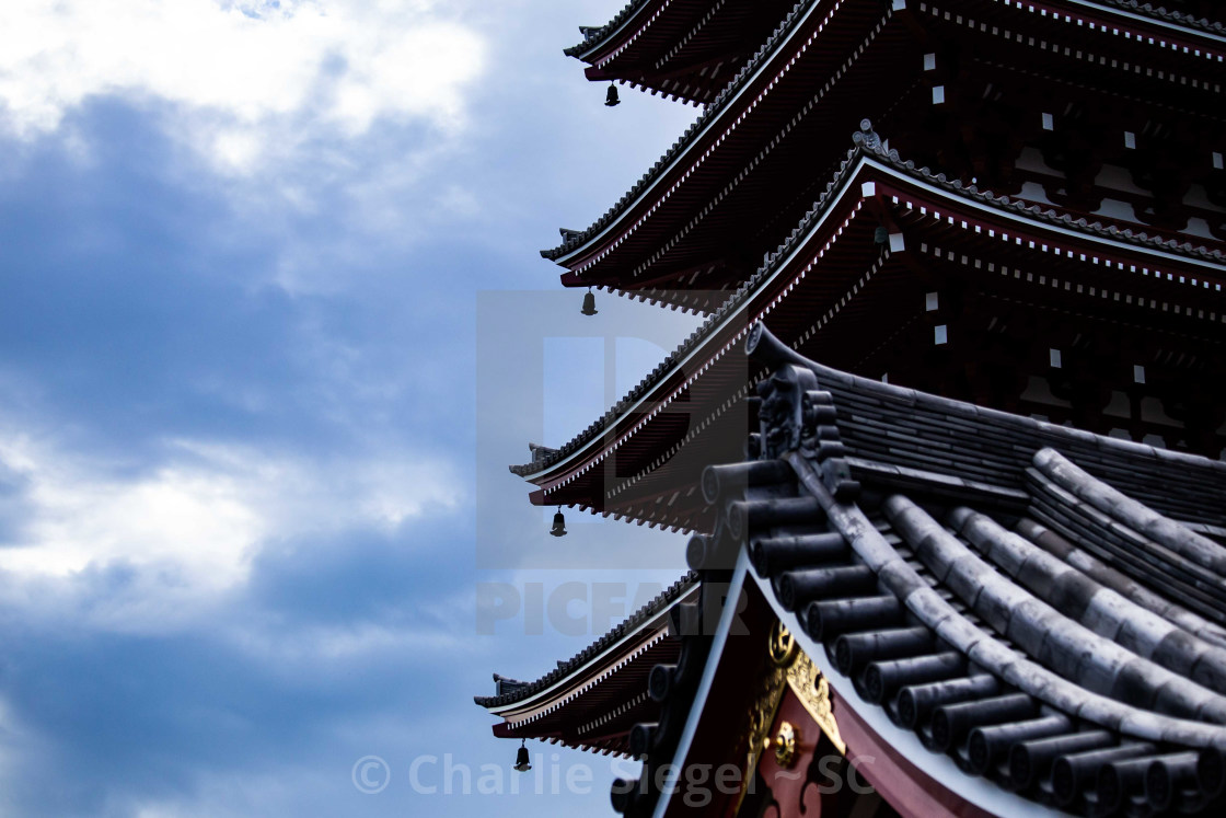 """Pagoda at Asakusa Kannon Temple, Japan"" stock image"