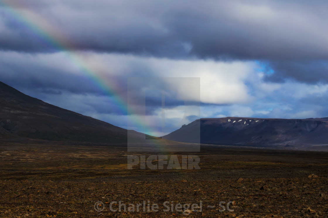 """The End of the Rainbow in Iceland"" stock image"