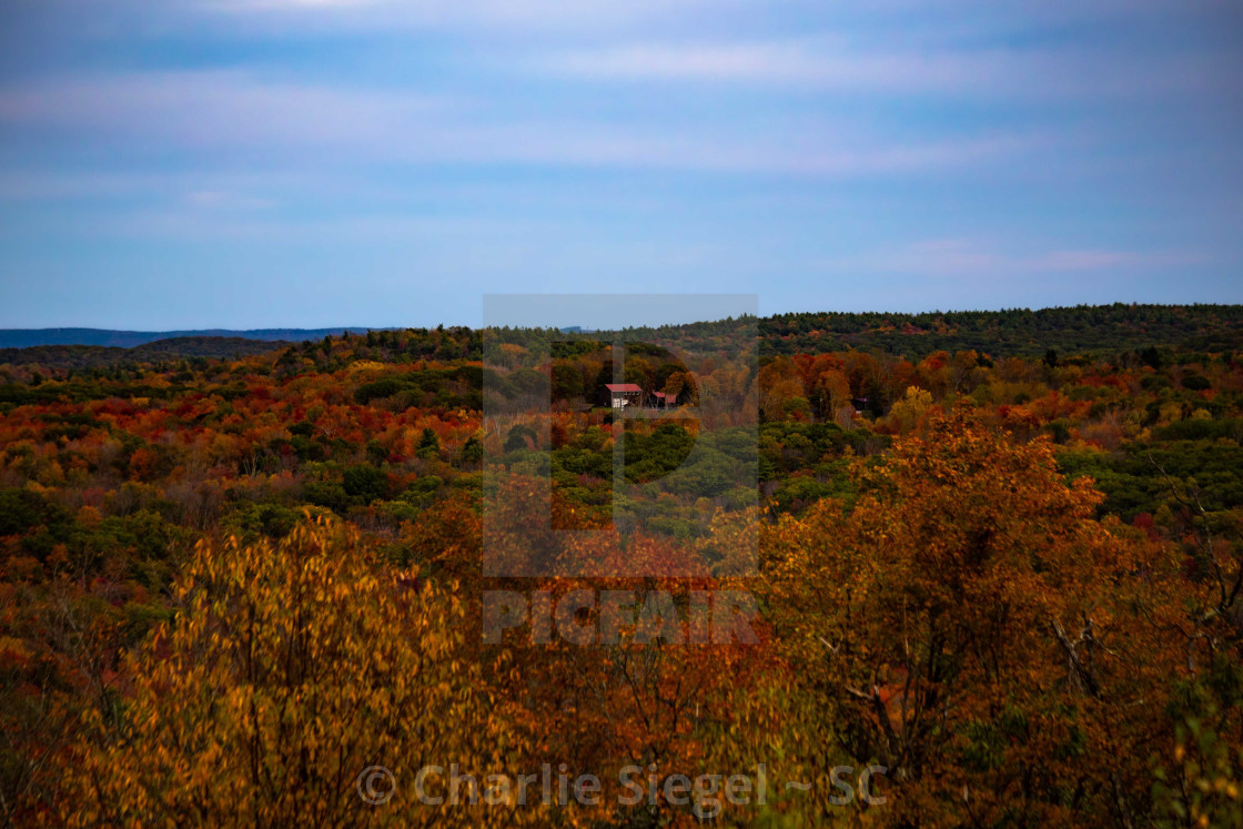 """Dennis Hill Autumn Overlook in Connecticut, USA"" stock image"