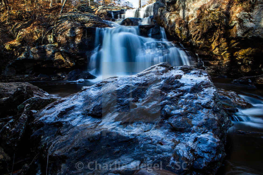 """Chapman Falls in Winter"" stock image"
