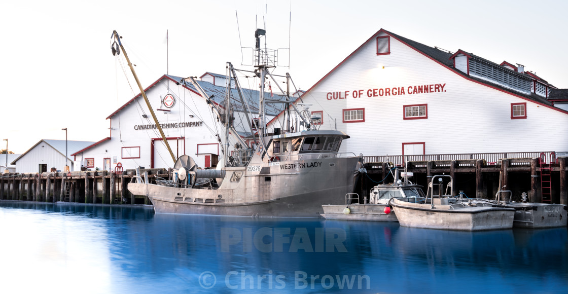 """Gulf Of Georgia Cannery ."" stock image"