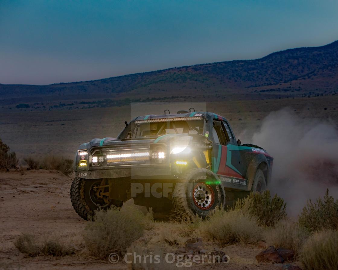 """Race Truck at Dusk"" stock image"