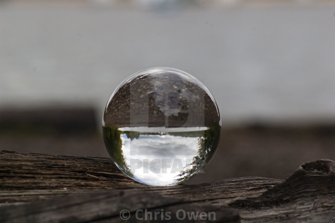 """Crystal Ball Close up"" stock image"