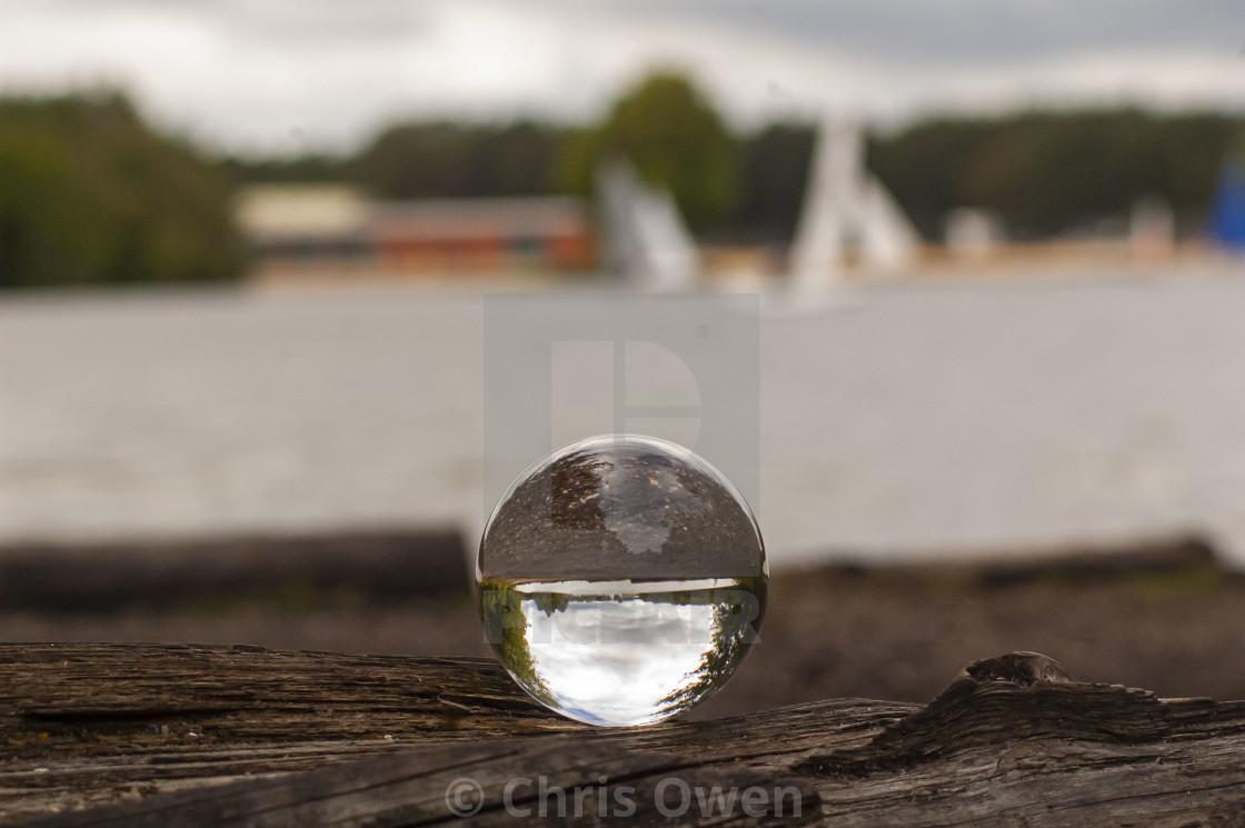 """""""Crystal Ball lakeside"""" stock image"""