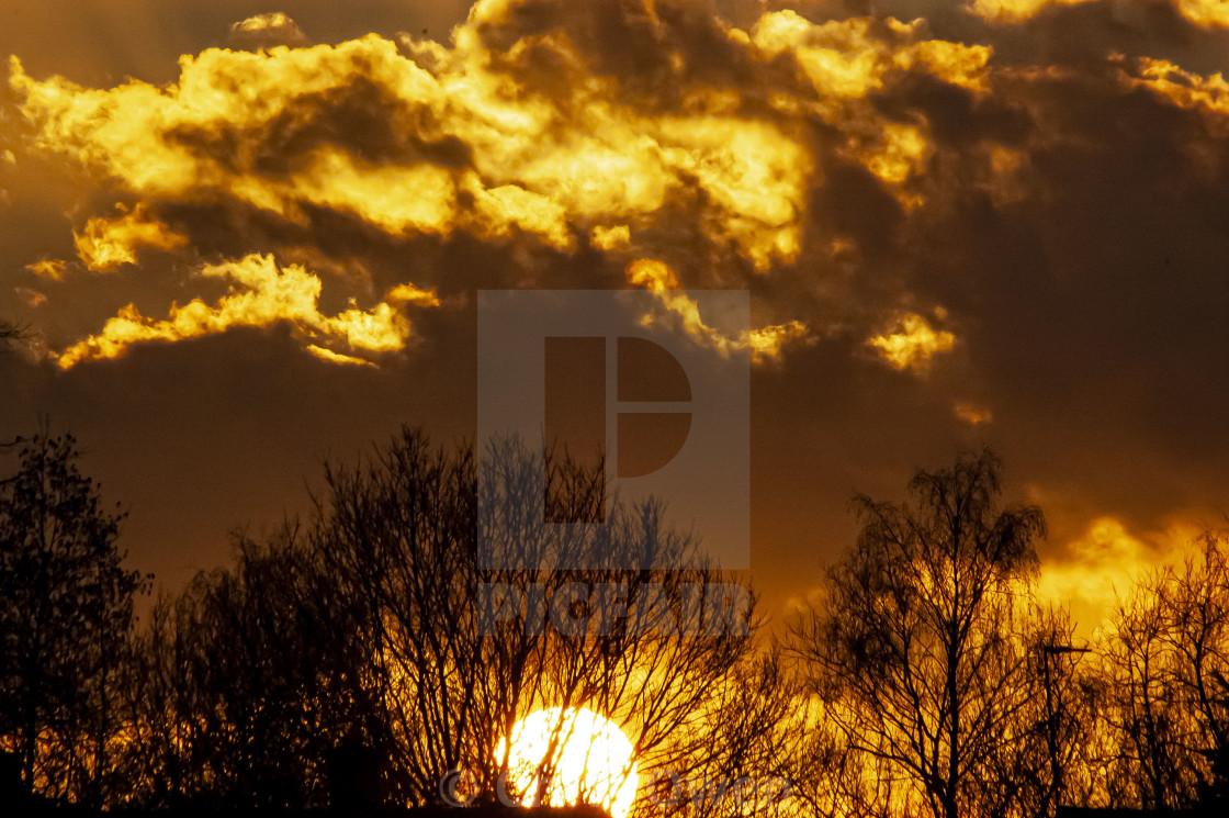 """""""Golden Sunset 3"""" stock image"""