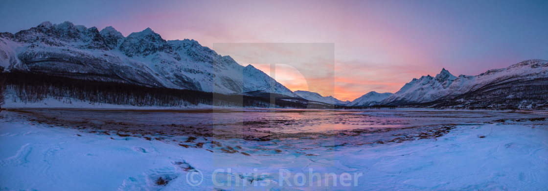 """Mid-day north of the arctic circle"" stock image"