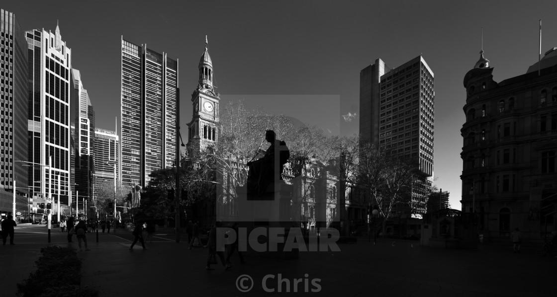 """""""Queen Victoria Building Sculpture Sydney"""" stock image"""