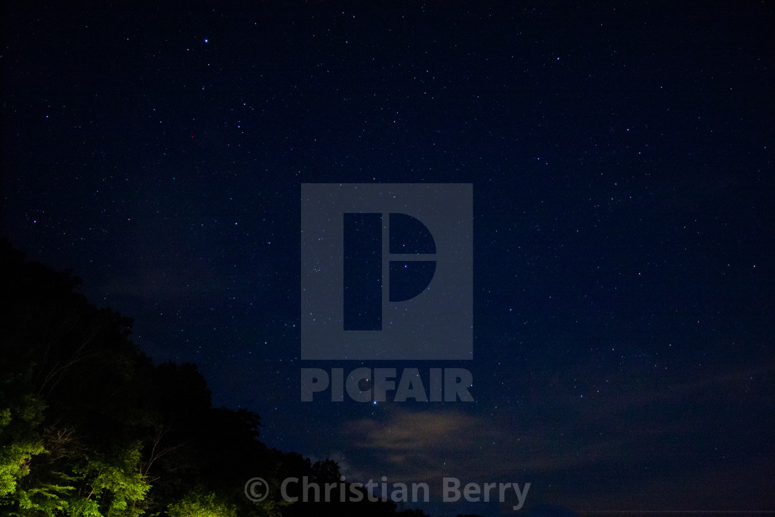 """Starry Night at Strouds"" stock image"