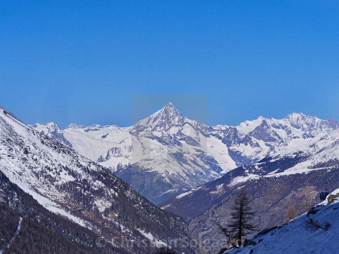 """Snowy Mountains"" stock image"