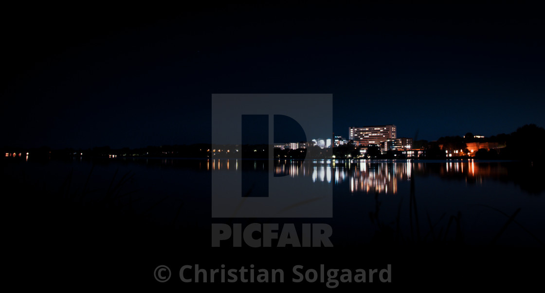 """Viborg by night"" stock image"