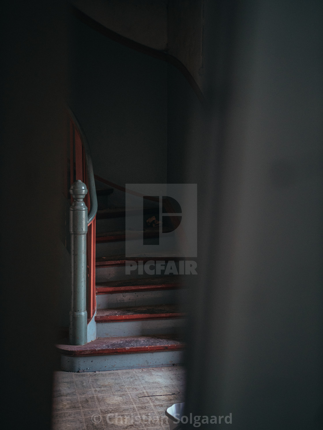 """""""Abandoned stairs"""" stock image"""