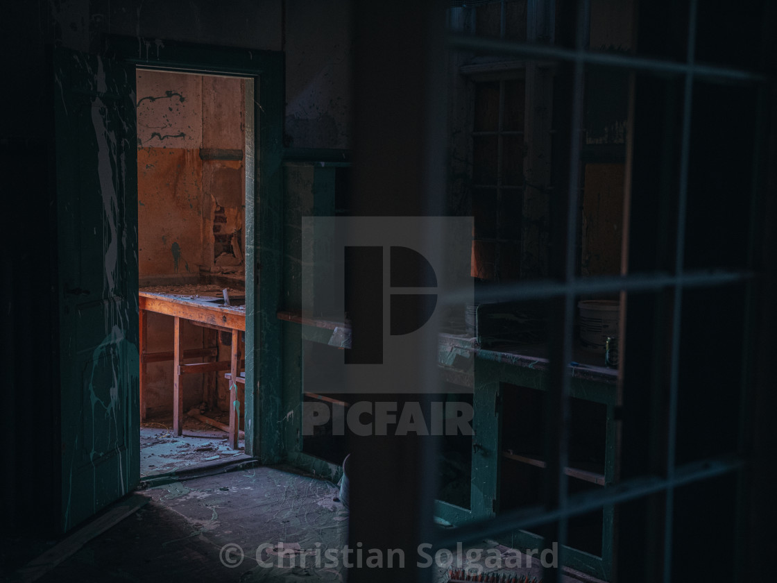 """Abandoned house interioir"" stock image"