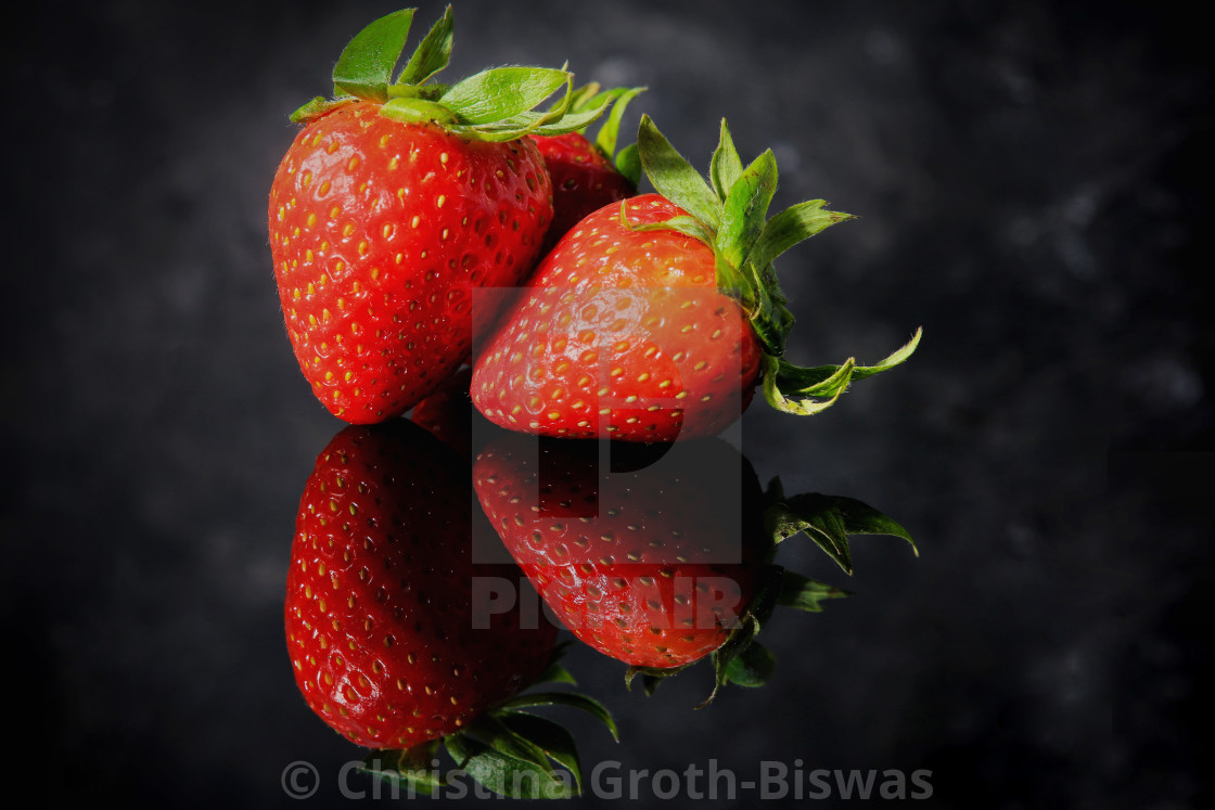 """""""Group of strawberries"""" stock image"""