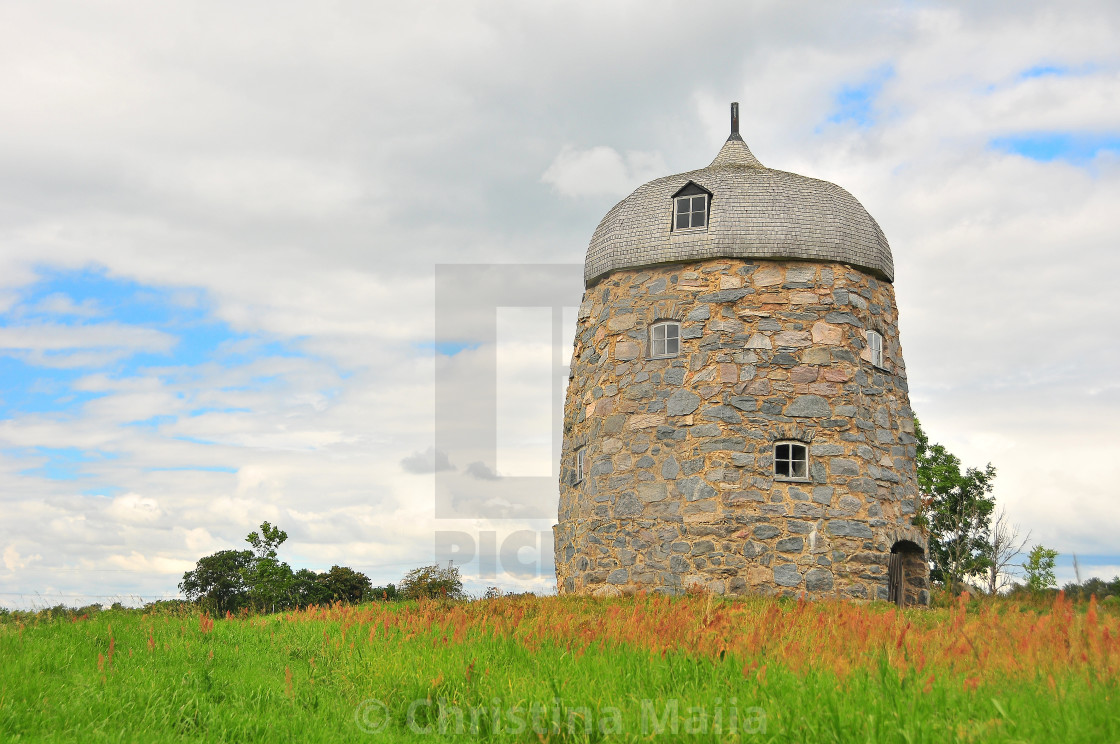 """""""A picturesque old tower in the Skagerak region"""" stock image"""