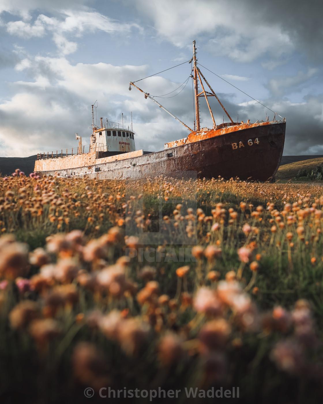 """Westfjords Shipwreck"" stock image"