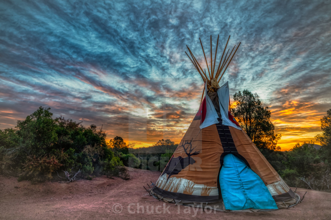 """""""teepee-wild west-camping"""" stock image"""