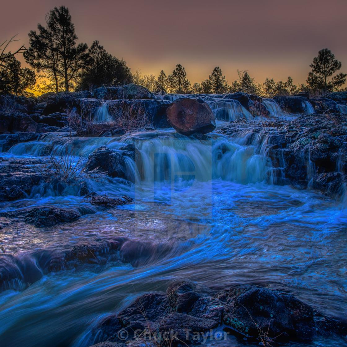 """""""waterfall-landscape-arizona-mountains"""" stock image"""